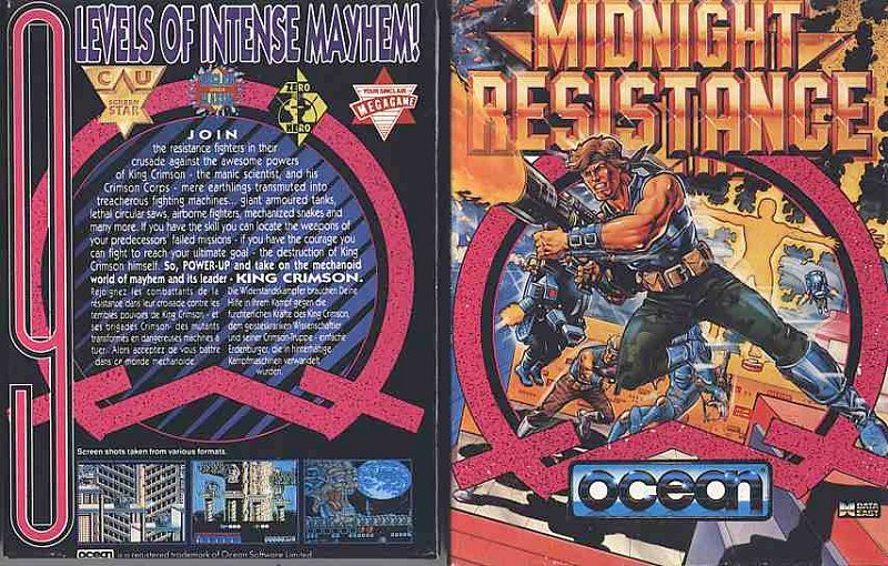 Midnight Resistance game cover art