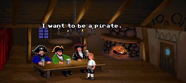 The Secret of Monkey Island, one of the most popular point and click adventures