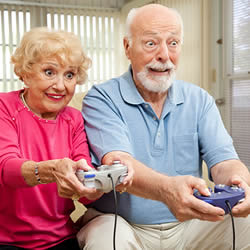 elderly people gaming