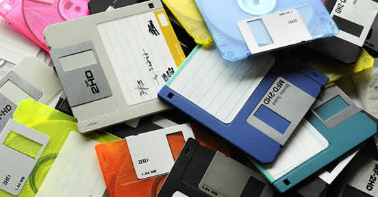 Floppy Disks, great for software piracy