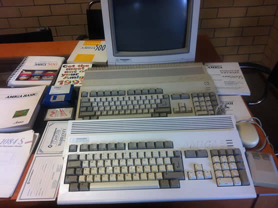 Amiga's, worshipping the illegal duplication of software.