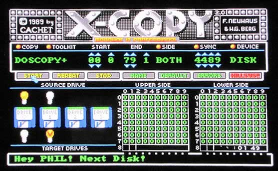 x-copy, the main software piracy tool
